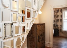 A stunning mirror display for the shabby chic wall