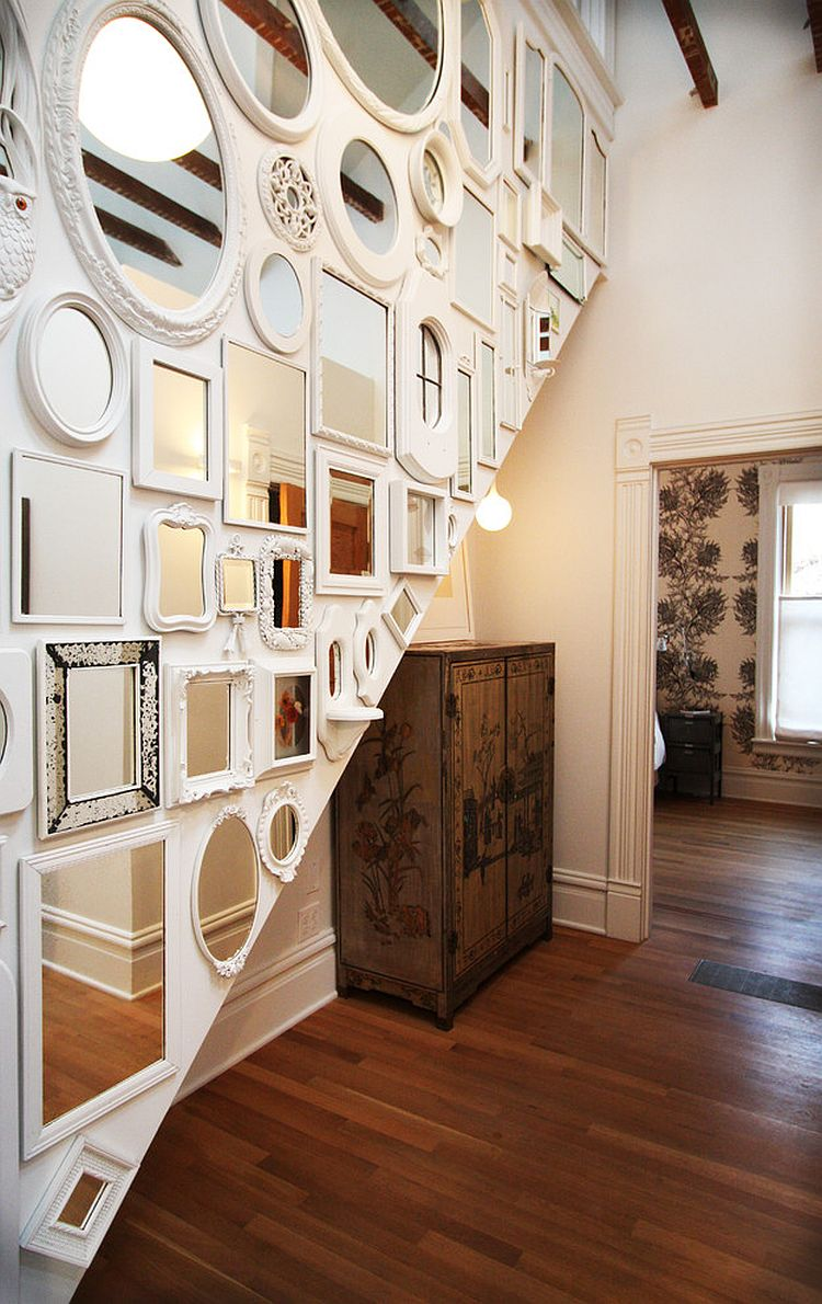 A stunning mirror display for the shabby chic wall [Design: bright designlab]