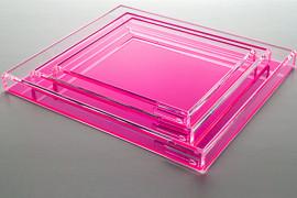 Acrylic pink trays from AVF