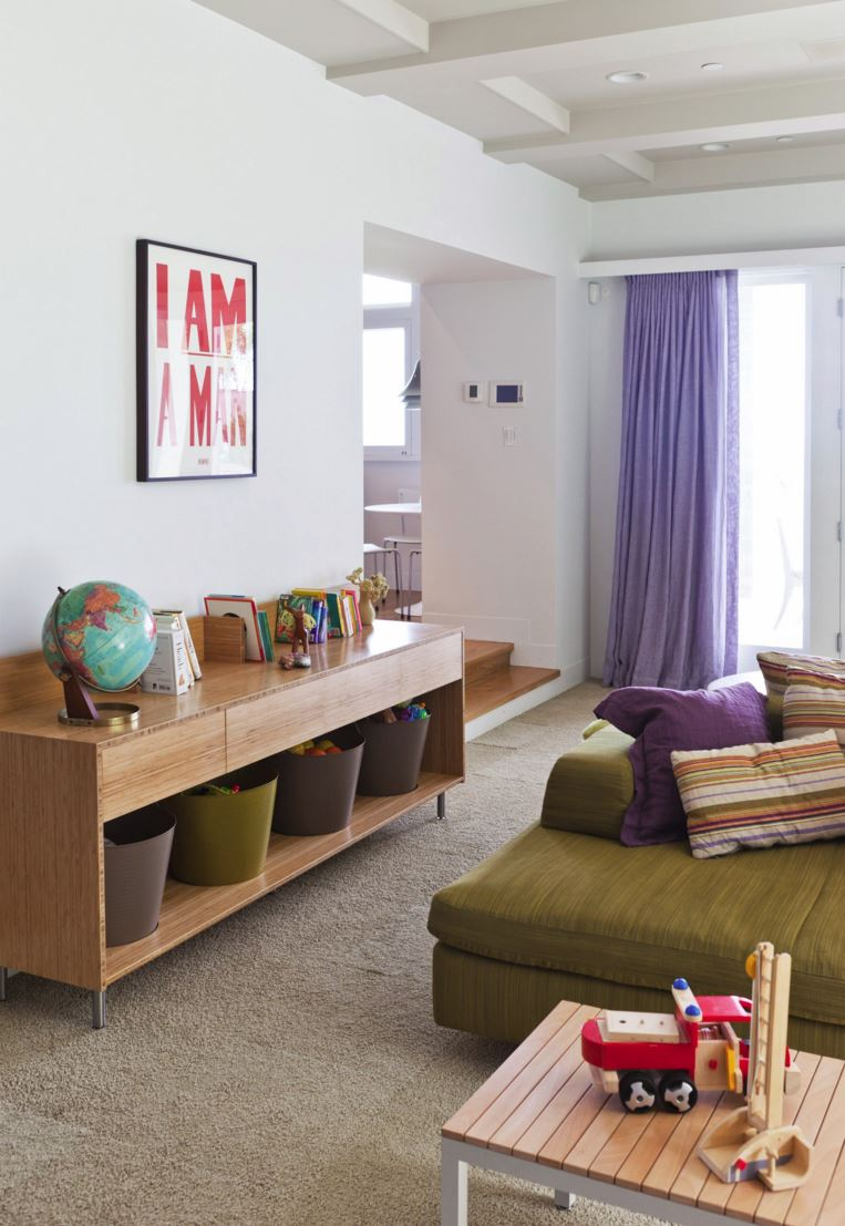 Ample storage in a child-friendly space