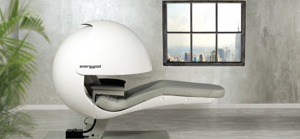 An EnergyPod awaits its next napper Nap Pods in the Office: a Workplace Trend