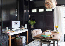 An organized workstation and work desk give the home office a curated look 217x155 How to Create a Healthy and Relaxing Home Office