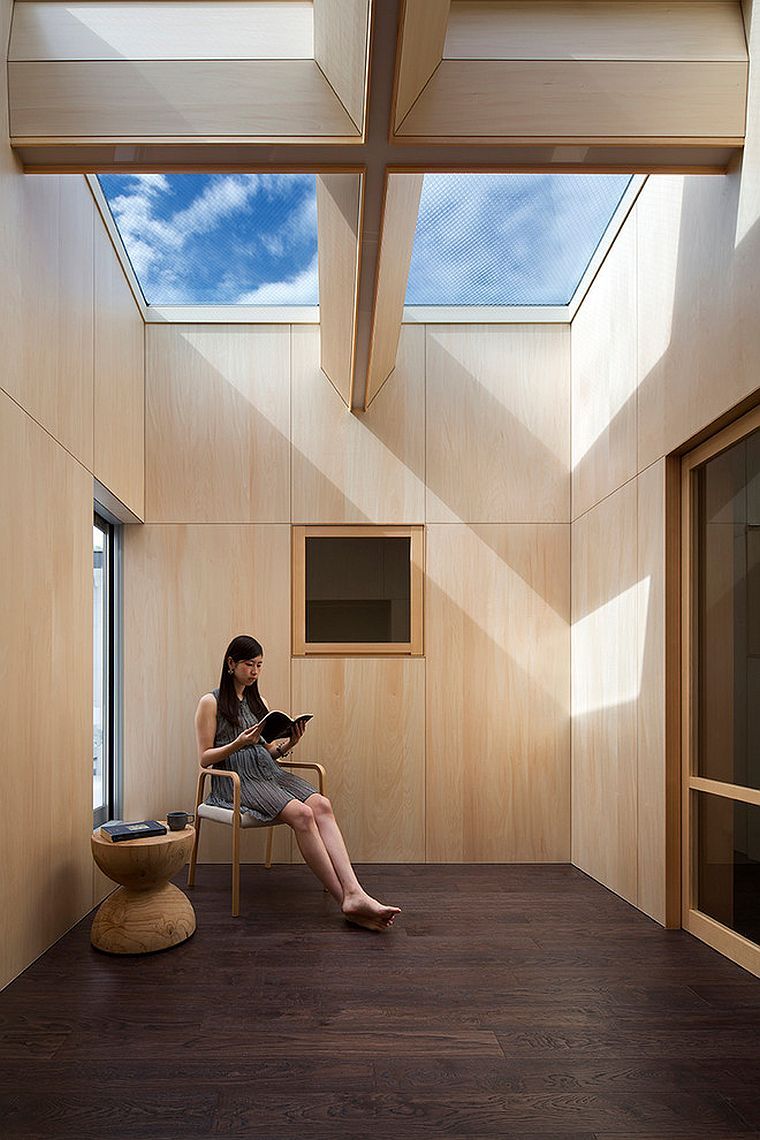 An ultra-minimal Asian sunroom design for an urbane home [Design: NRM Architects Office]