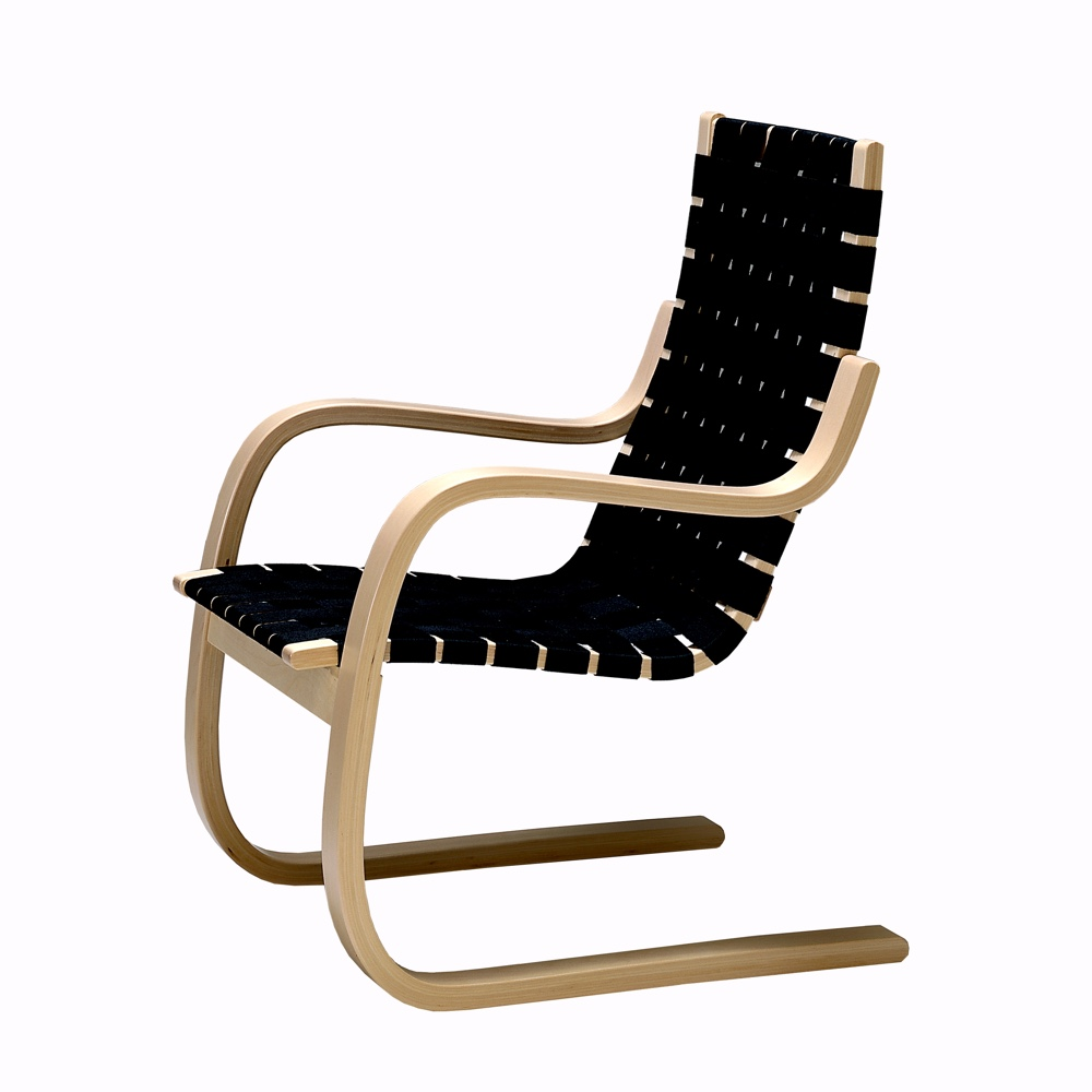 Armchair 406 black webbing