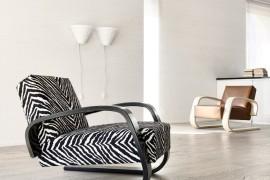 Artek 400 armchair zebra print
