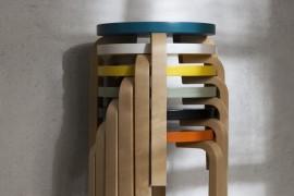 Artek Stool 60 stacked