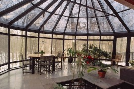 Awesome views and indoor feature steal teh show in this expansive Asian sunroom