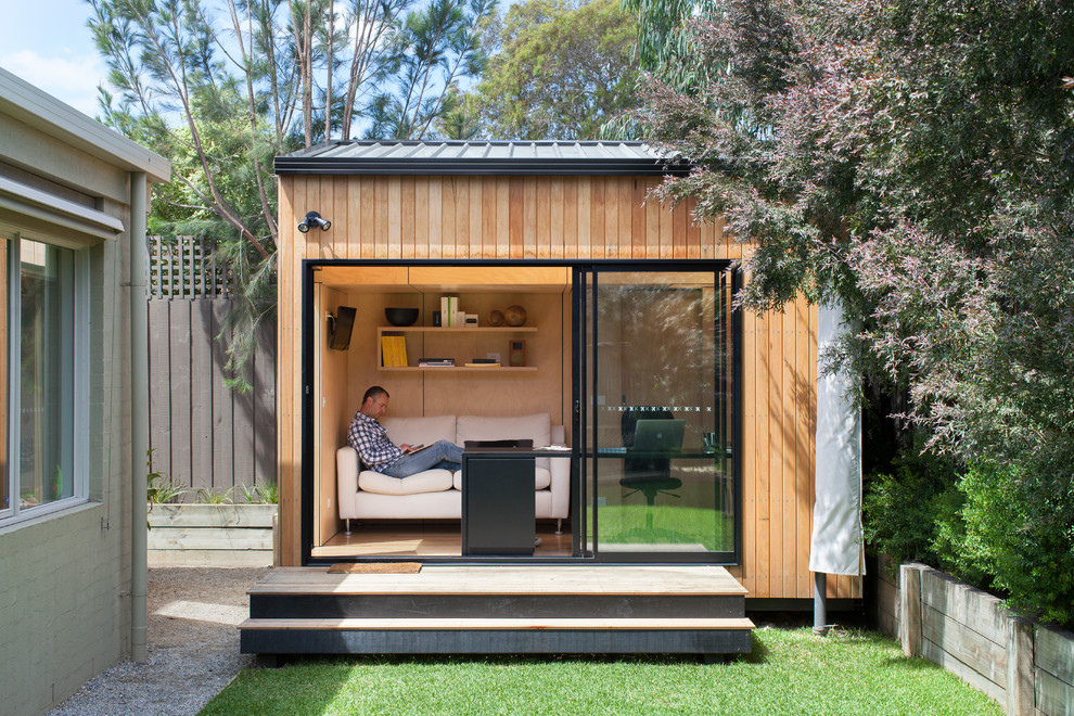 Backyard office is becoming a popular option among homeowners in 2016 [Design: Backyard Room]
