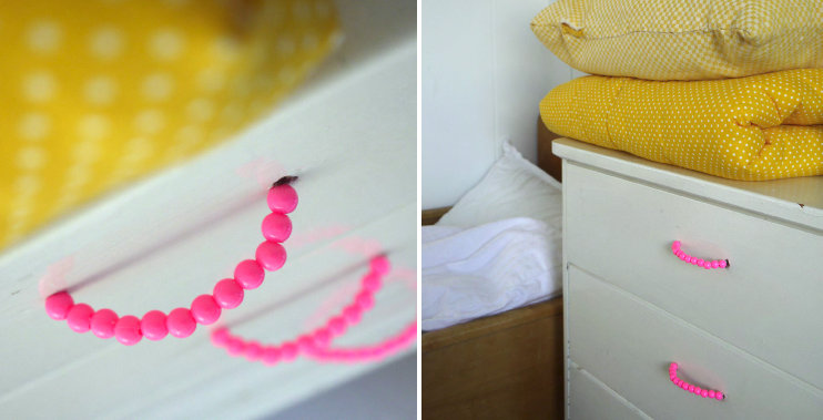 Beaded drawer handles from Dotty Love