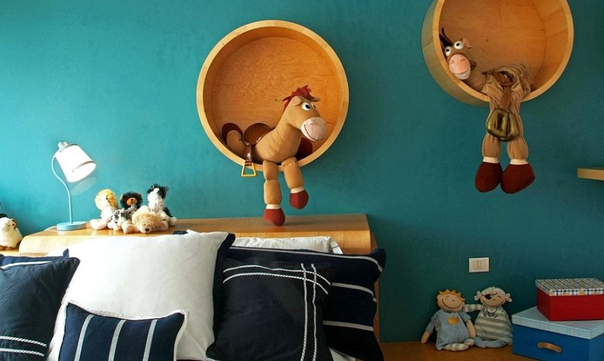 Inspired Displays: 20 Unique Shelves for a Creative Kids' Room