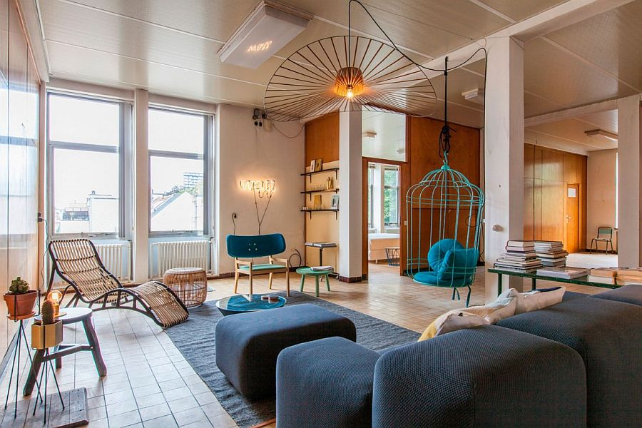 View In Gallery Bird Cage Styled Hanging Chair Steals The Show In The  Living Room