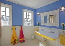 Bathroom Yellow Color Scheme trendy twist to a timeless color scheme: bathrooms in blue and yellow