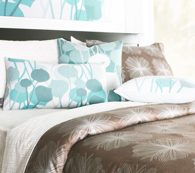 Bold organic cotton bedding from Inhabit