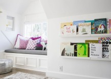 Book display shelves in a childs bedroom 217x155 Designing Your Home with Kids in Mind