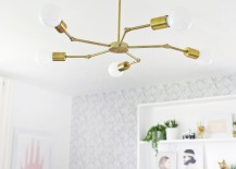 Brass chandelier in a bedroom makevoer 217x155 Style Lessons from Top Design Blogs