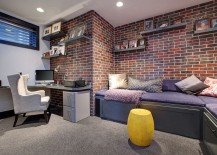 Brick veneer is a perfect option for those who do not have a brick wall to showcase