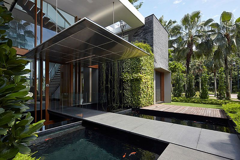 Aquatic Splendor Enchanting Home Surrounded By Ponds