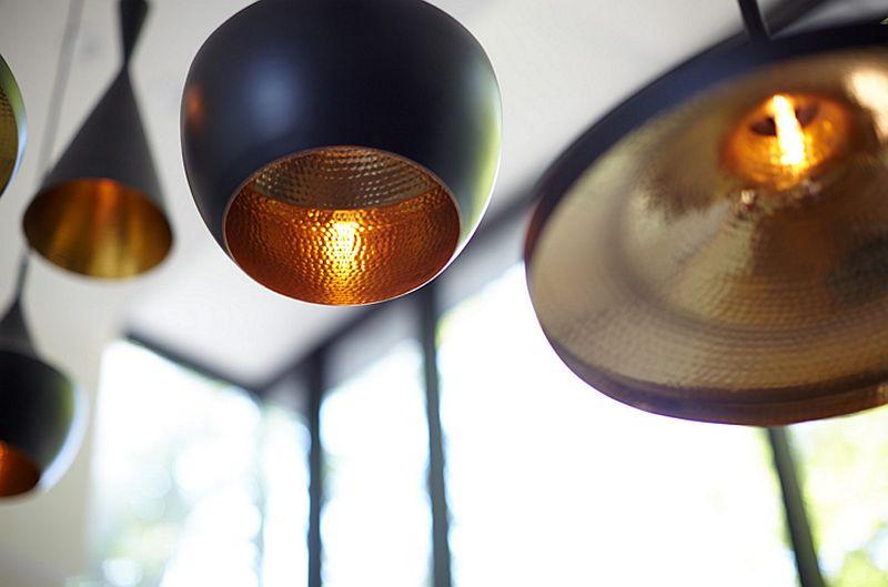 Brilliant Tom Dixon pendant lights inside the Fallsview Residence