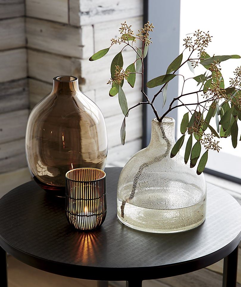Bubble glass vase from Crate & Barrel
