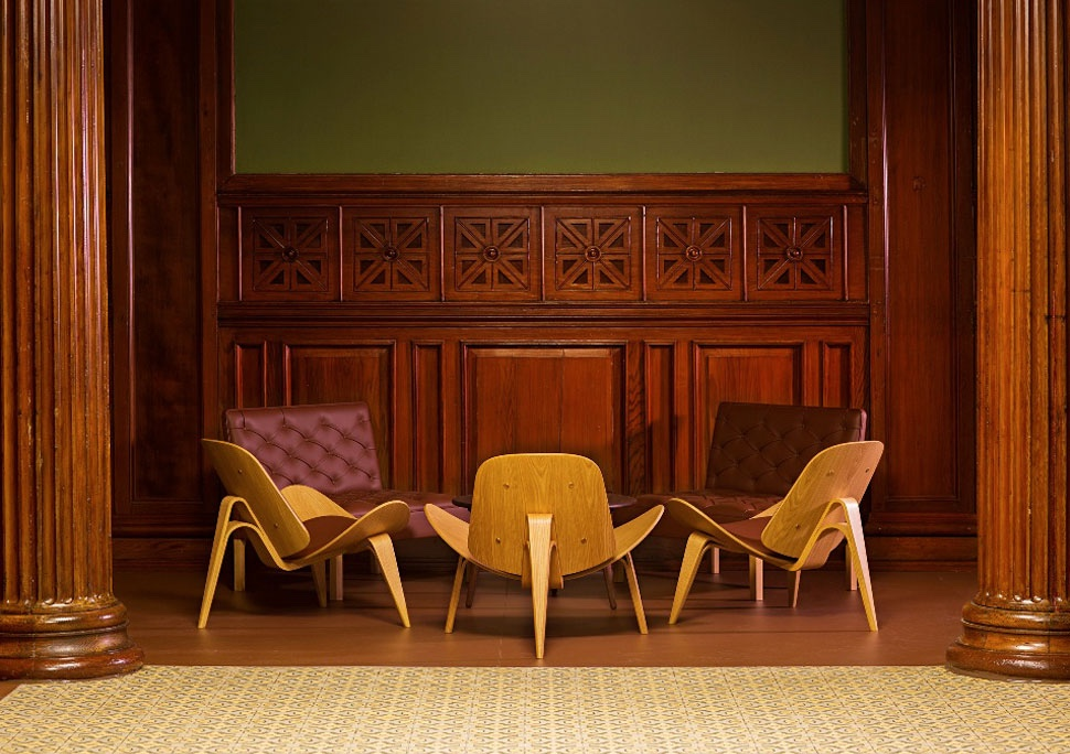 CH07 Shell Chairs in the Widows Hall