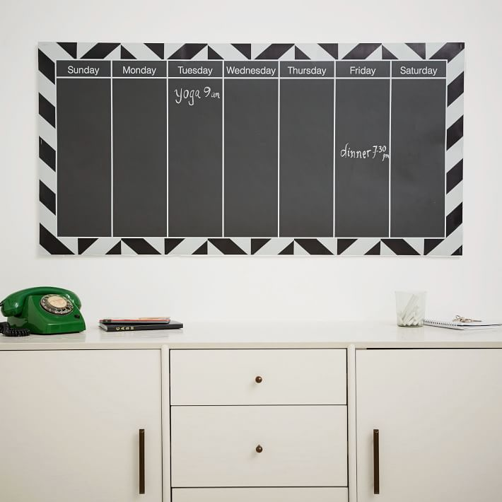 Chalkboard calendar from West Elm