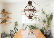 Chic dining room with Bohemian flair