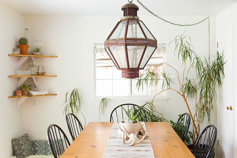 Chic dining room with Bohemian flair [From: Ellie Lillstrom Photography / Houzz]