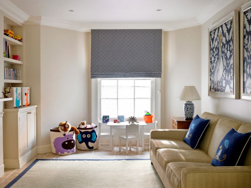 View In Gallery Child Friendly Family Room With Storage Baskets