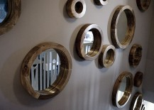 Circular mirror collection for the stairway wall 217x155 Reflection of Style: Glam up Your Home with a Dazzling Mirror Collection
