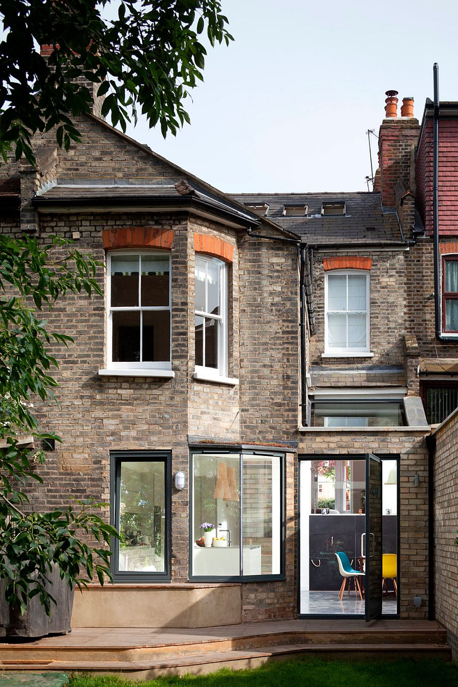 Classic brick exterior of the Cotesbach Road Residence in London