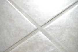 Clean bathroom tile grout