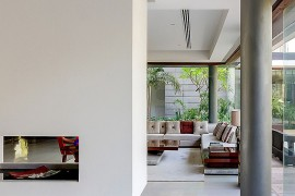 Closer look at the trendy contemporary fireplace