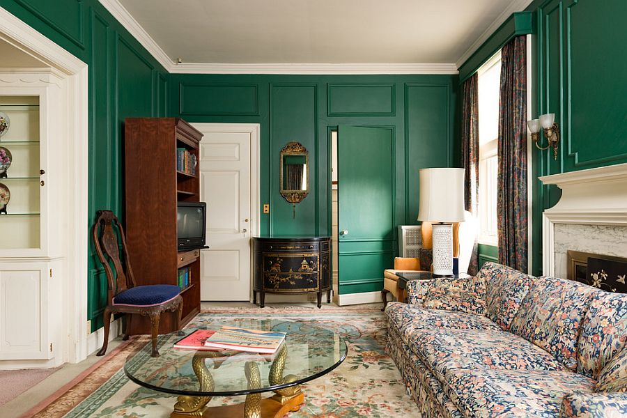 Colorful Victorian living room with understated class [From: Brandon Schuster Photography]