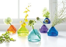 Colorful vases from Room & Board