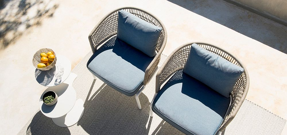 View In Gallery Comfy Outdoor Chairs With Water Resistant Cushions
