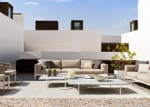 Contemporary courtyard design filled with decor from Tribu