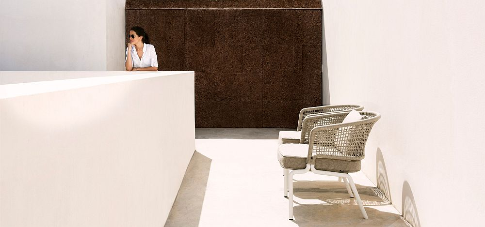 Contemporary design of Contour chairs allows you to use them both outdoors and indoors