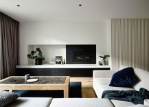 Contemporary living room in neutral hues