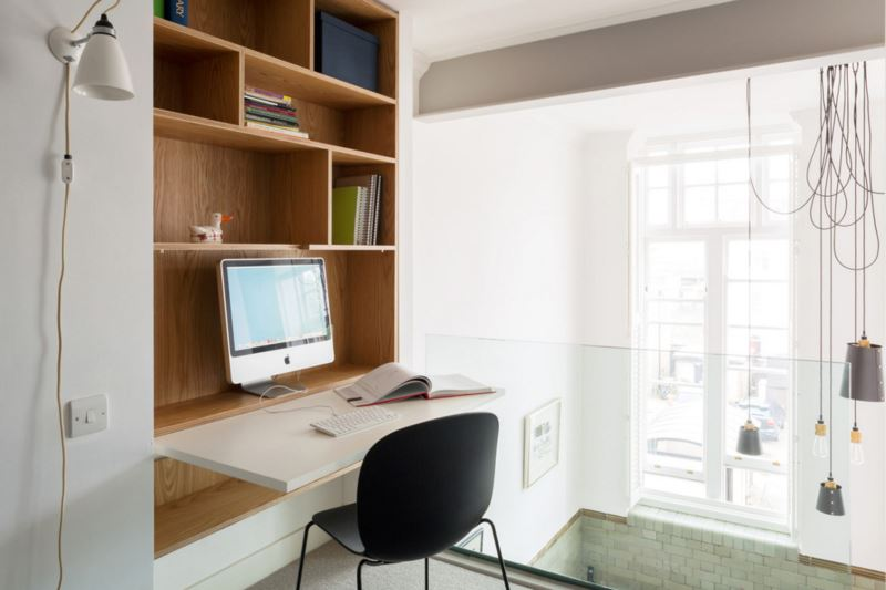 Superbe View In Gallery Contemporary Office Area With A Fold Down Desk