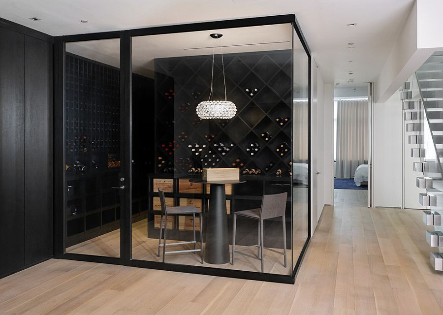 wine tasting room furniture. Wine Room Furniture. Contemporary Cellar And Tasting Space With Glass Walls [Design: Furniture