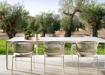 Contour outdoor chairs from Tribu by Piergiorgio Cazzaniga 217x155 Contour: Outdoor Décor Collection Fuses Effortless Form with Durable Design