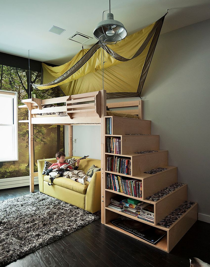 Inspired displays 20 unique shelves for a creative kids room for Fort bedroom ideas