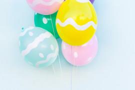 DIY Easter egg balloons from Studio DIY