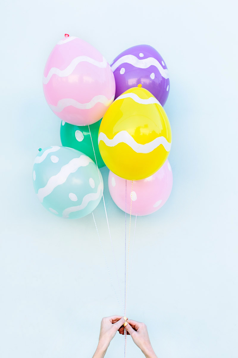DIY Easter egg balloons from Studio DIY