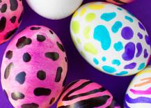 DIY Lisa Frank Easter eggs from Studio DIY