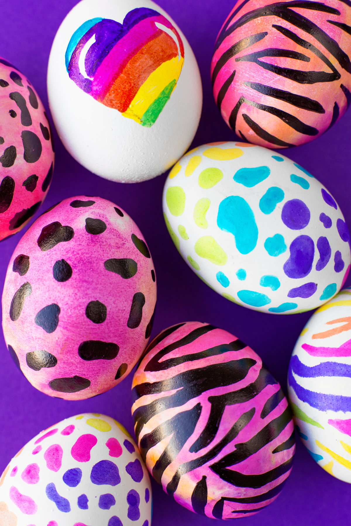 DIY Lisa Frank Easter eggs from Studio DIY