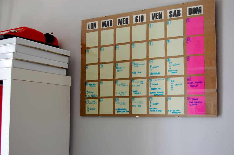 DIY calendar from Celestefrittata