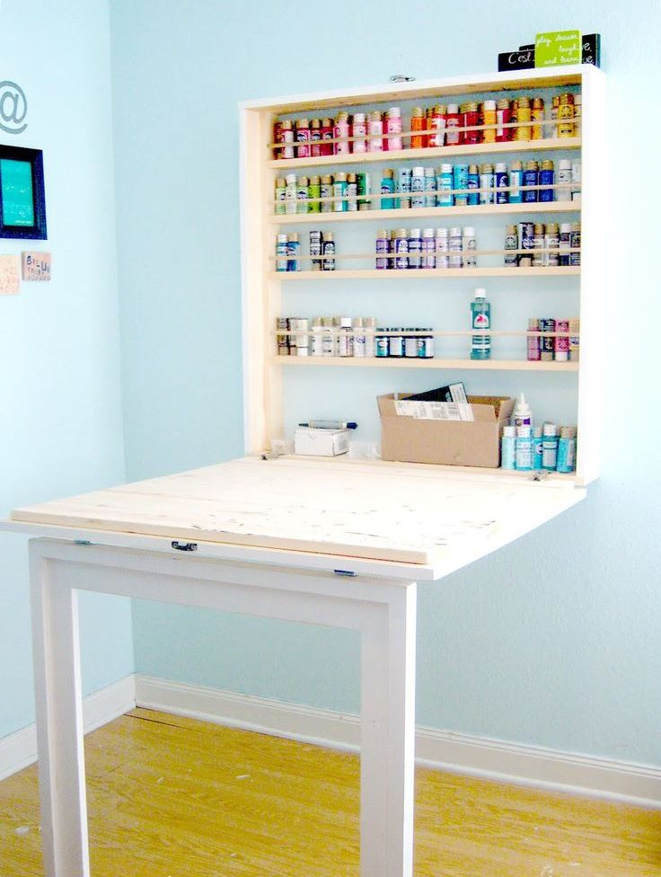 View In Gallery Diy Fold Out Desk From Bubble Wrapp D