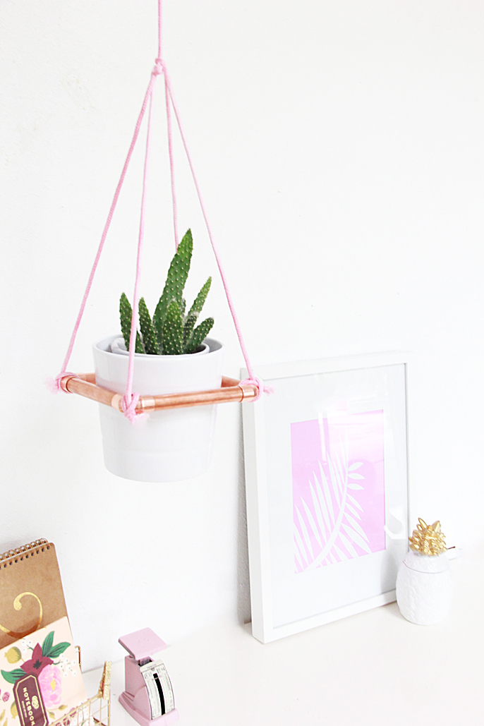 DIY hanging planter from A Bubbly Life