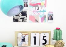 DIY perpetual calendar from A Beautiful Mess